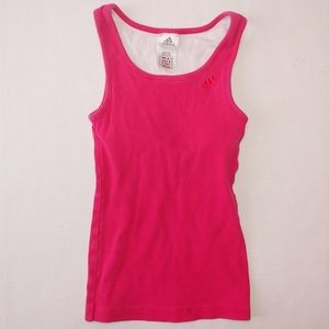 Adidas pink tank top built-in bra extra small
